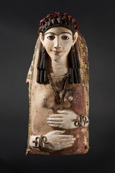Unknown Egyptian, 'Cartonnage Mask of a Young Lady', Ca. AD 100
