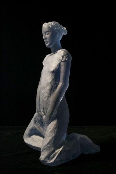 Nicolas Africano, 'Schiele (blue kneeling figure)', 2015