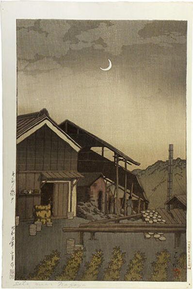 Kawase Hasui, 'Selection of Views of the Tokaido: Bishu Seto Kilns', 1934