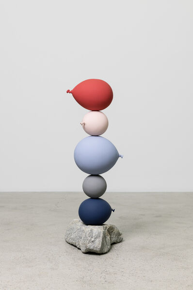 Gimhongsok, 'Untitled (Short People) 5 balloons', 2018