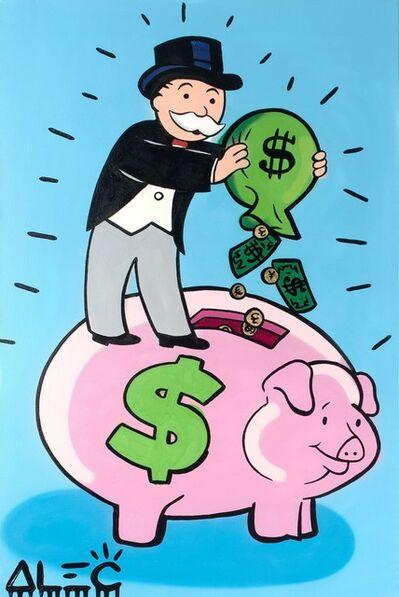 Alec Monopoly, 'Monopoly With Piggy Bank ', 2019