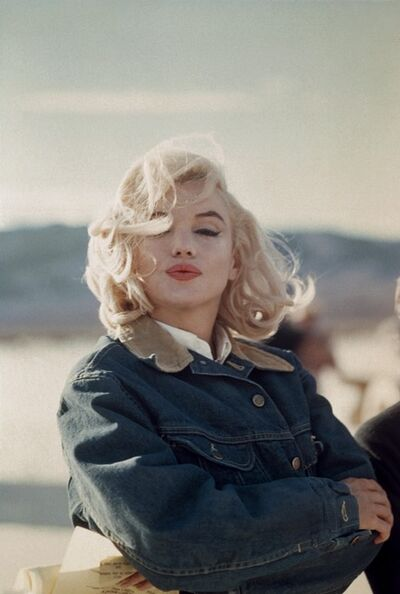 "Eve Arnold, 'US actress Marilyn Monroe on the Nevada desert during the filming of ""The Misfits"", directed by John Huston', 1960"
