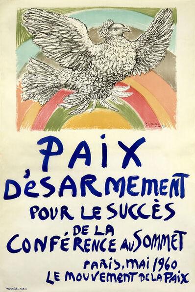 Pablo Picasso, 'Paix D'Esarmememt Pour Le Succès De La Conference Au Sommet', 1960