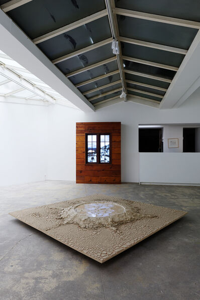 Paul Kos, 'Exhibition view of Kinetic Landscape(s), floor installation : Condensation of Yellow Stone Park Into 64 Square Feet / Wooden installation : Donner Pass (After Bierstadt, for David Kos)', floor installation : 1969 (built) / Wooden installation : 2016