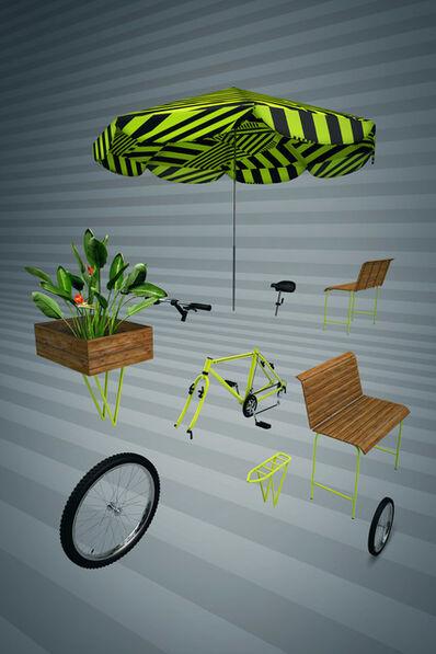 BijaRi, 'Bike dissecada 3D', 2018