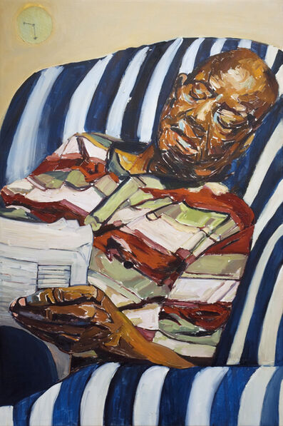 Beverly McIver, 'Dad Reading the Obituaries', 2018