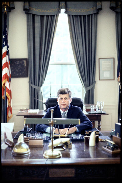 Elliott Erwitt, 'John F. Kennedy in the Oval Office', 1962