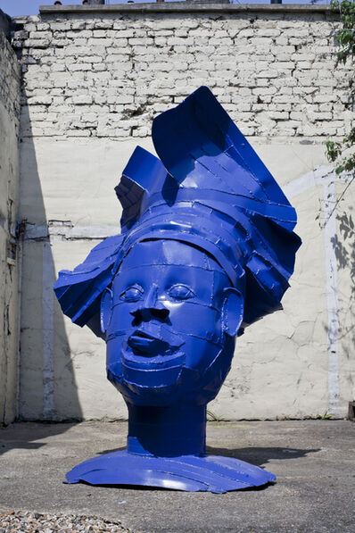 Sokari Douglas Camp, 'Blue Head', 2011