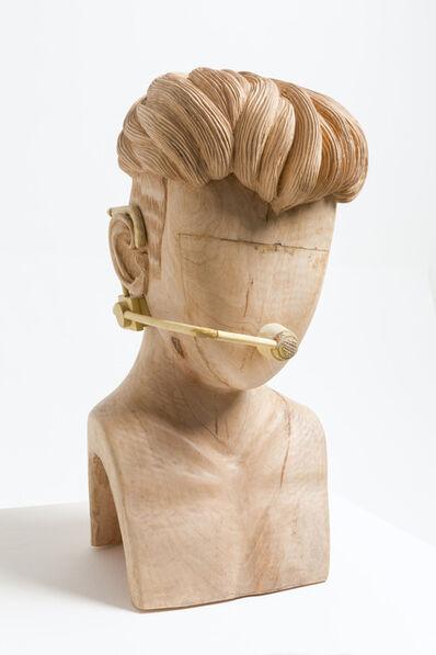 Paul Pfeiffer, 'Justin Bieber head with mic', 2018