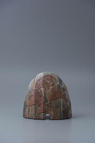 Ken Matsuzaki, 'Rectangular vase, yohen natural ash glaze'