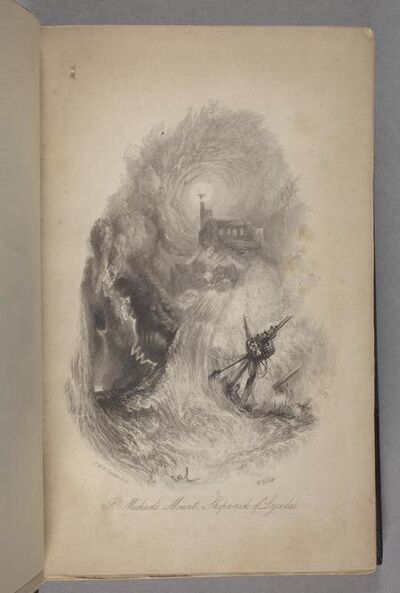 J. M. W. Turner, 'St. Michael's Mount, Shipwreck of Lycidas As Bound in Vol. Vi of the Poetical Works of John Milton', 1835