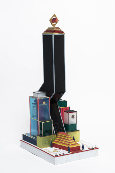 Bodys Isek Kingelez, 'Black Tower', 2000