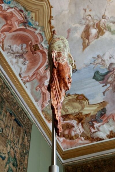 Barry X Ball, 'Impaled Streched Portrait of Lucas Michael in Pakistani Onyx/ The Tapestry Room - Ca'Rezzonico, Venice', 2011-203