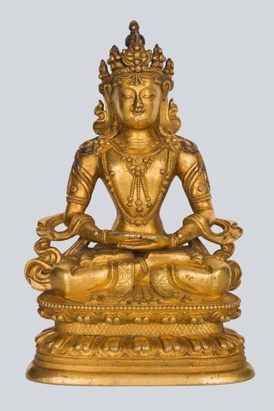 Bronze Sculpture, 'A Gilt Bronze Figure of Amitayus, China, 17-18th Century, 17 cm.'