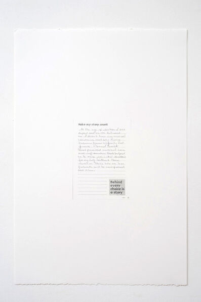 Andrea Bowers, 'Make My Story Count, Letters to Planned Parenthood (At the Age of Sixteen)', 2011