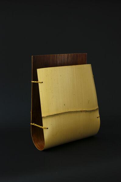 Matsumoto Hafū, 'Wide Noshitake bamboo flower vase', 2017