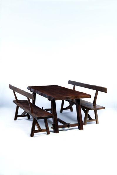 Olavi Hänninen, 'Pair of benches', vers 1950