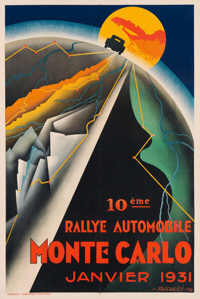 Robert Falucci, '10eme RALLEY AUTOMOBILE MONTE CARLO - JANUARY 1931', 1931