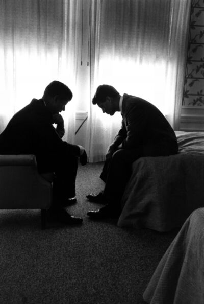 Hank Walker, 'Presidential candidate John F. Kennedy planning convention strategy with his brother and campaign manager, Robert, Hotel Biltmore, LA', 1960