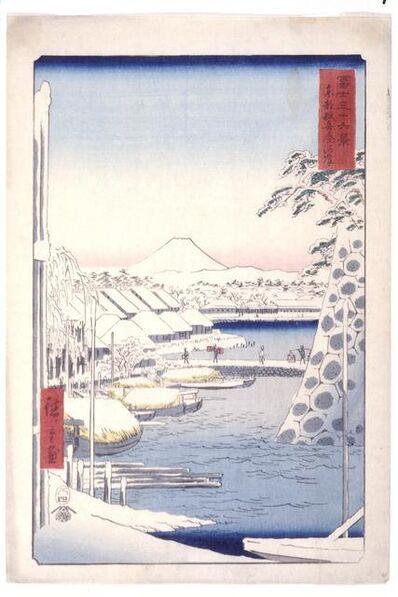 Utagawa Hiroshige (Andō Hiroshige), 'Sukiya Riverbank In the Eastern Capital (Tōto Sukiya Kaigan)', 1858-4th month