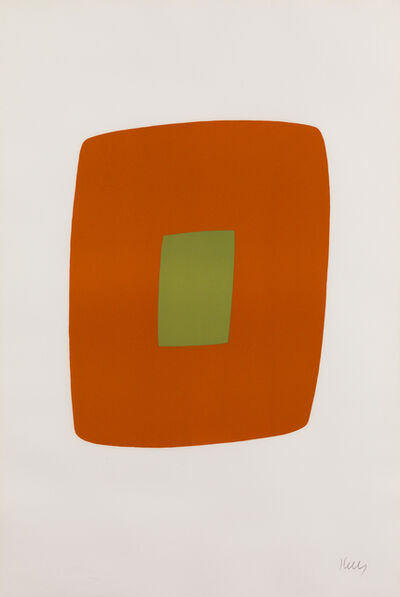 Ellsworth Kelly, 'Orange with Green', 1964-1965