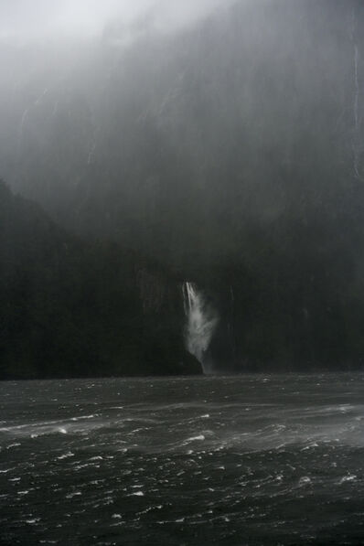 Jem Southam, 'A Sudden Squall, The Stirling Falls, Milford Sound, New Zealand, Autumn 2018', 2018