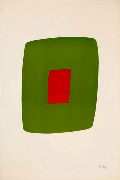 Ellsworth Kelly, 'Green with Red', 1964-1965