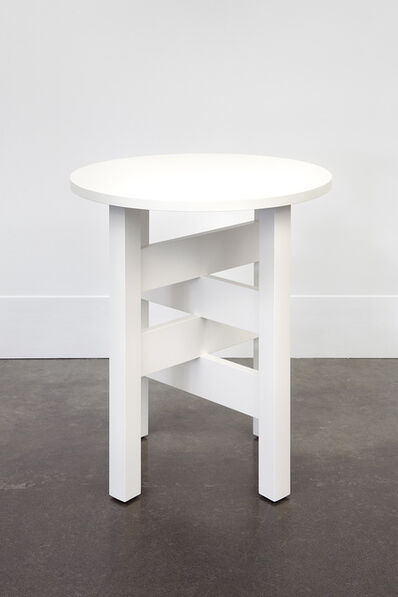 Roy McMakin, 'A White Lamp Table I First Made for Chris', 2011-2014