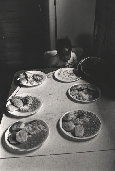 Constantine Manos, 'Untitled, Sharecroppers, South Carolina (lone child at dinner table)', 1965