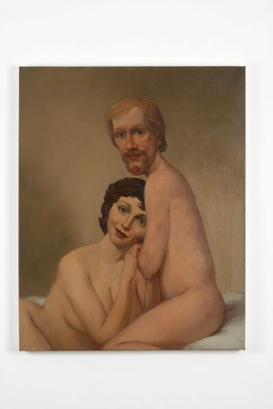 John Currin, 'Couple in Bed', 1993
