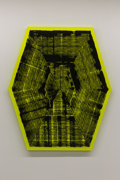 Jason REVOK, 'Kundalini Loop Hexagon Black/Yellow 1', 2016