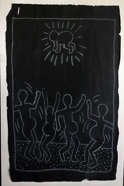 Keith Haring, 'DANCING PREGNANT WOMEN', 1982-83