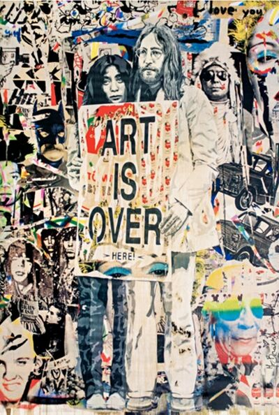 Mr. Brainwash, 'John Lennon & Yoko Ono: Art is Over....Here', ca. 2010
