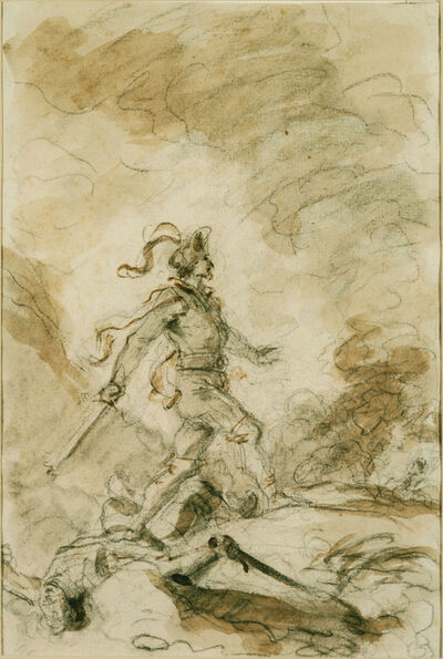 Jean-Honoré Fragonard, 'Odorico Kills Corebo and Sets Out in Pursuit of Isabella'