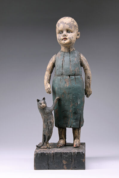 Margaret Keelan, 'Girl with Cat', 2008