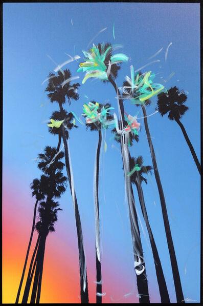 Pete Kasprzak, 'Santa Barbara Sky High Palms', 2021