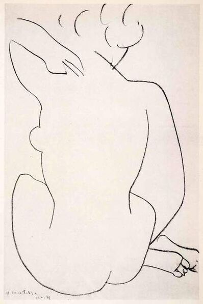 Henri Matisse, 'Seated Nude Back View', 1958