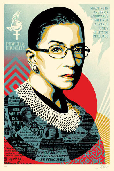 Shepard Fairey, 'A Champion of Justice (Ruth Bader Ginsburg) - Large', 2021