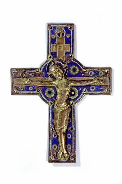 Unknown Artist, 'Crucifix Mount and Processional Crucifix, Limoges', ca. 1200