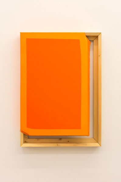 Angela de la Cruz, 'Tight (Dark orange/orange)', 2015