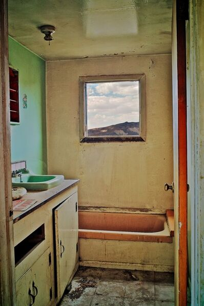 Osceola Refetoff, 'Burro Schmidt Abandoned Caretaker's House Bathroom - Last Chance Canyon, California', 2009