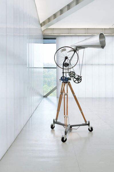 William Kentridge, 'Kinetic Sculpture Bicycle Wheel with Two Megaphones'