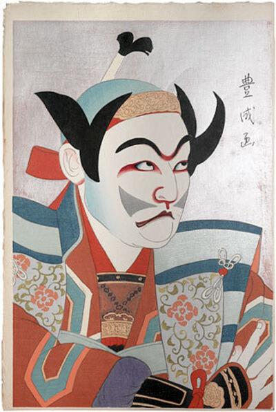Yamamura Kōka, 'Flowers of the Theatrical World: Actor Ichikawa Ennosuke II as Hayami no Tota', ca. 1921