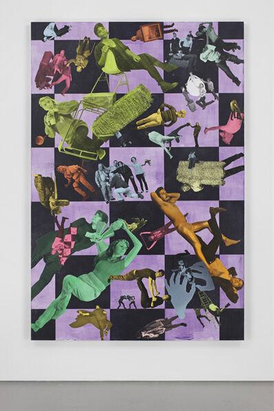 Ryan McNamara, 'To be titled (purple checks)', 2012