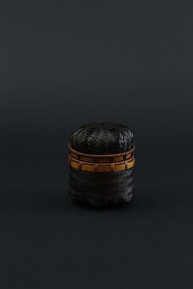 Matsumoto Hafū, 'Cobwebs pattern bamboo tea container', 2017