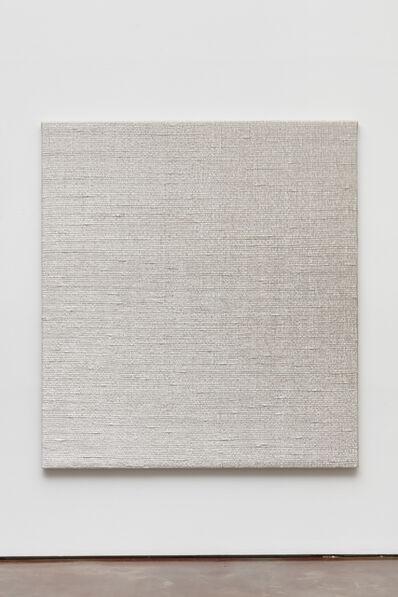 Analia Saban, 'Woven Diagonal Gradient as Weft (Top-right Corner to Bottom-left Corner, White)', 2019
