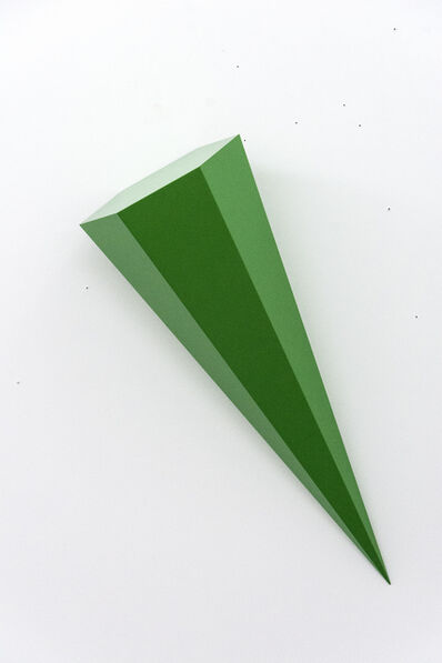 Lori Cozen-Geller, 'On Point - bright, glossy, green, smooth surfaced, abstract, wall sculpture', 2012