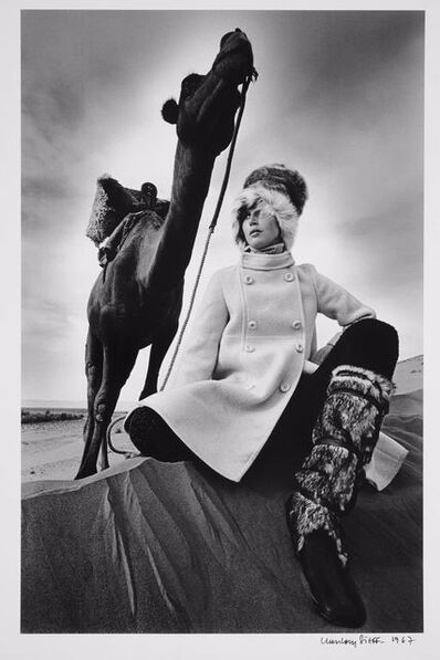 Jeanloup Sieff, 'Coat Marc Sport at Griselda, boots Karl Lagerfeld for Charles Jourdan, Morocco, Vogue', 1967