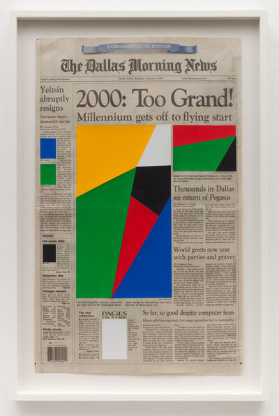 Marine Hugonnier, 'Art for Modern Architecture Dallas Morning News – The Millenium – January 1st, 2000', 2011