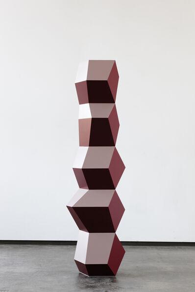 Angela Bulloch, 'Five Form Stack: Red, Wine & Beige', 2016